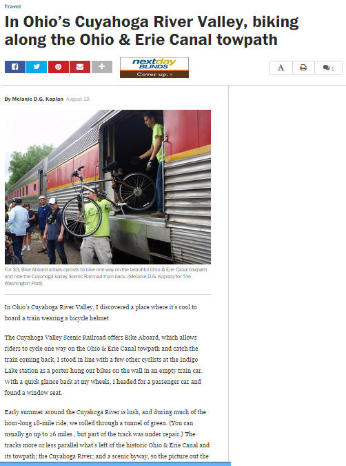 Screen shot of August 28, 2014 Washington Post article