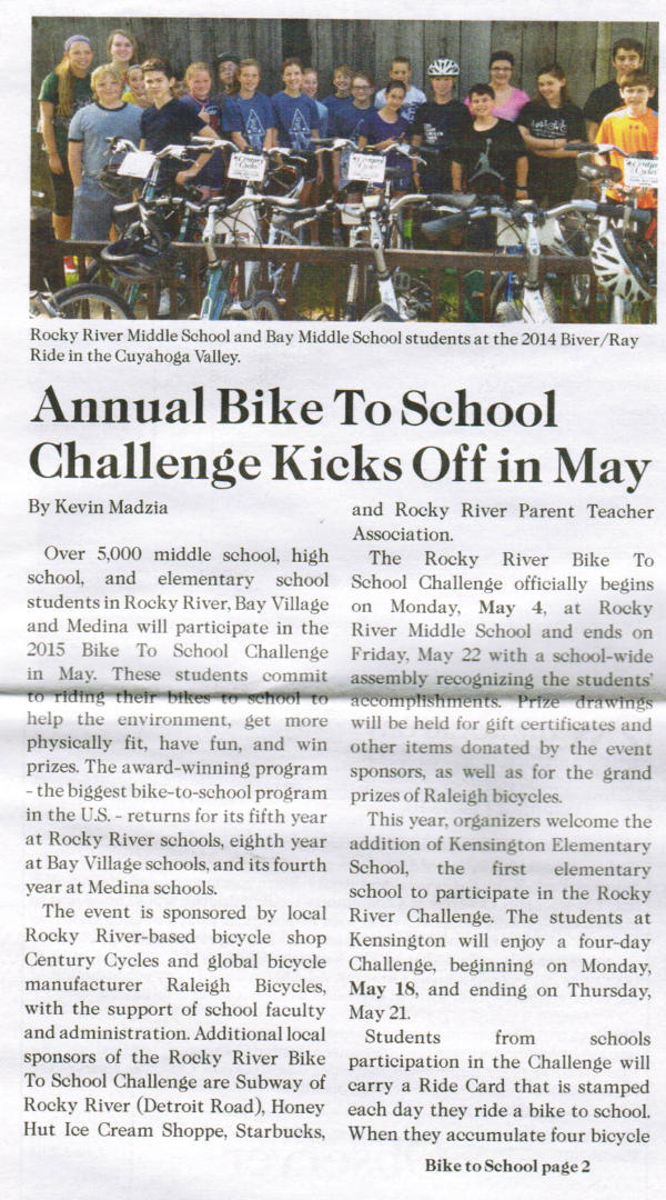 Scan of May 2015 Rockport Observer article, page 1