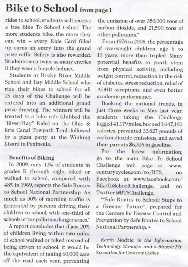 Scan of May 2015 Rockport Observer article, page 2