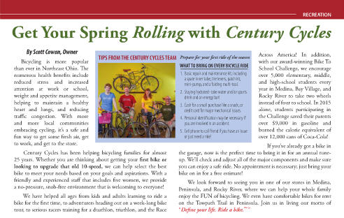 Article from page 15 of the April/May 2016 issue of The Medina County Women's Journal