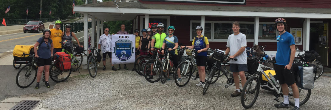 Group photo from the 2018 Bike Travel Weekend Camp-Out Ride