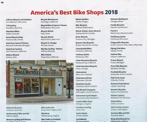 BRAIN: America's Best Bike Shops 2018 - Century Cycles