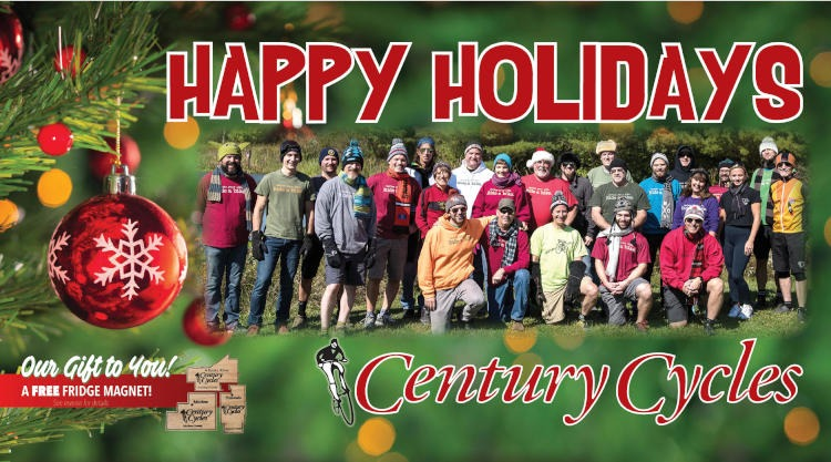 Happy Holidays from Century Cycles!