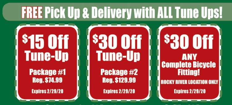 Bicycle Tune-Up Service Coupons