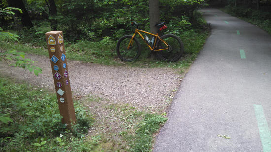 Bedford Singletrack Mountain Bike Trail First Marker