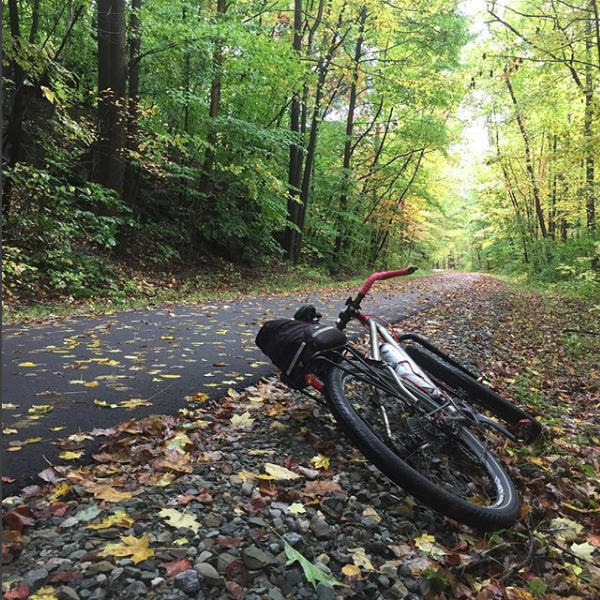 An autumn ride on the Summit Metro Parks Bike and Hike Trail near Peninsula