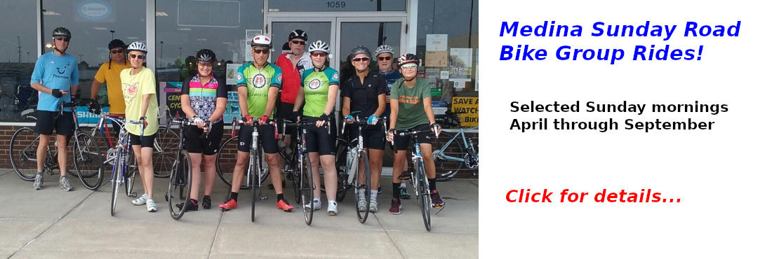 Medina Sunday Road Bike Group Rides - click for details!
