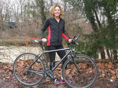 Sharon Constantino and her 2006 Raleigh Route 66