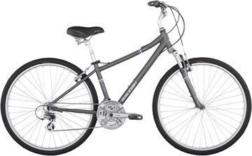 Hybrid bicycle with 700C wheels