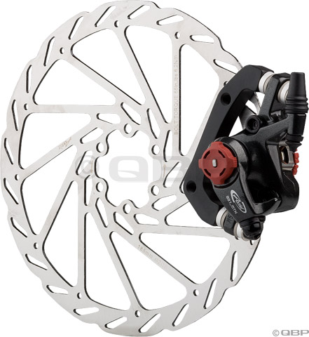 Mechanical disc brake caliper and rotor