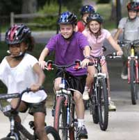 Riding with children