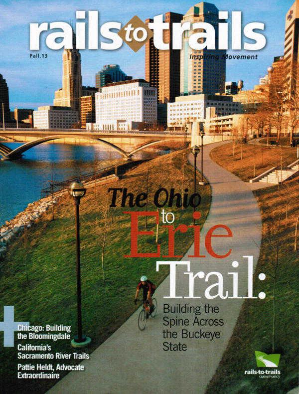 Rails To Trail magazine cover Fall 2013