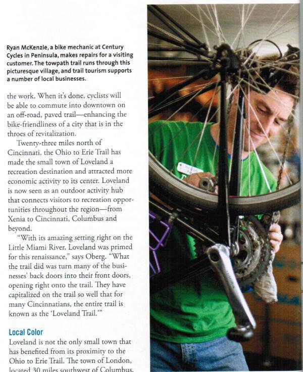 Century Cycles mechanic Ryan McKenzie in Peninsula