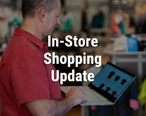 In store shopping update