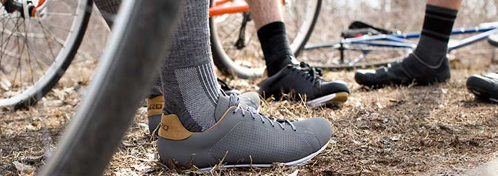 Cycling shoes from casual to serious