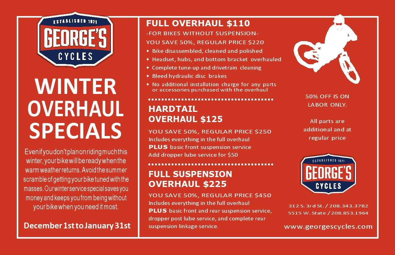 George's Winter Overhaul Specials from $110 to $225
