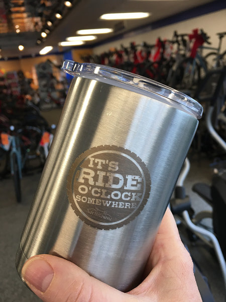 Northtowne Cycling Stainless Steel Tumbler/Koozie Combo