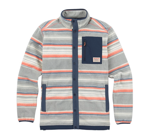 Burton Hearth Snap-Up Fleece Color: Stripe
