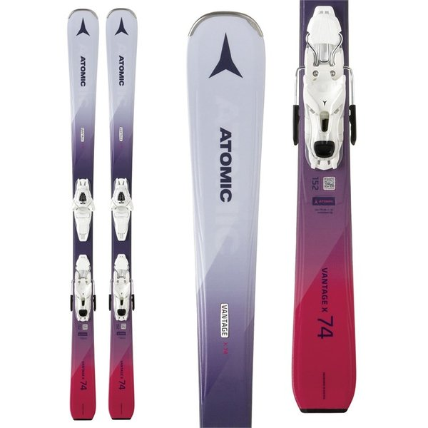 Atomic Vantage X 74 W Skis + Lithium 10 Bindings