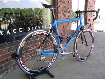 Independent Fabrication Titanium Crown Jewel w/ carbon stay custom fit & built by Grace Bicycles