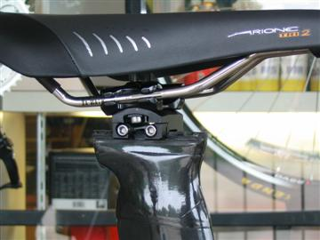 Parlee TT aero seatpost allows a wide range of effective seat angles