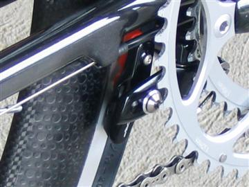 Parlee TT has a chainstay-mounted rear brake