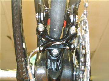 Parlee rear brake tucked under the chainstay