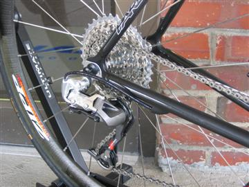 Parlee Z5 with Sram XX rear derailleur and 11x36 cassette