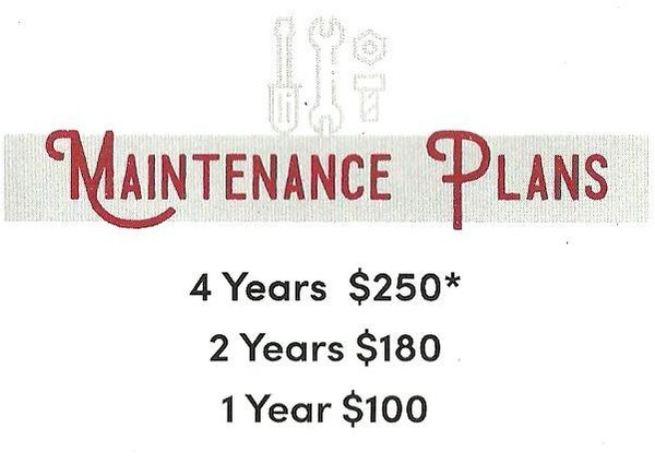 Campus Bike Shop Maintenance Plan for bikes purchased at the shop