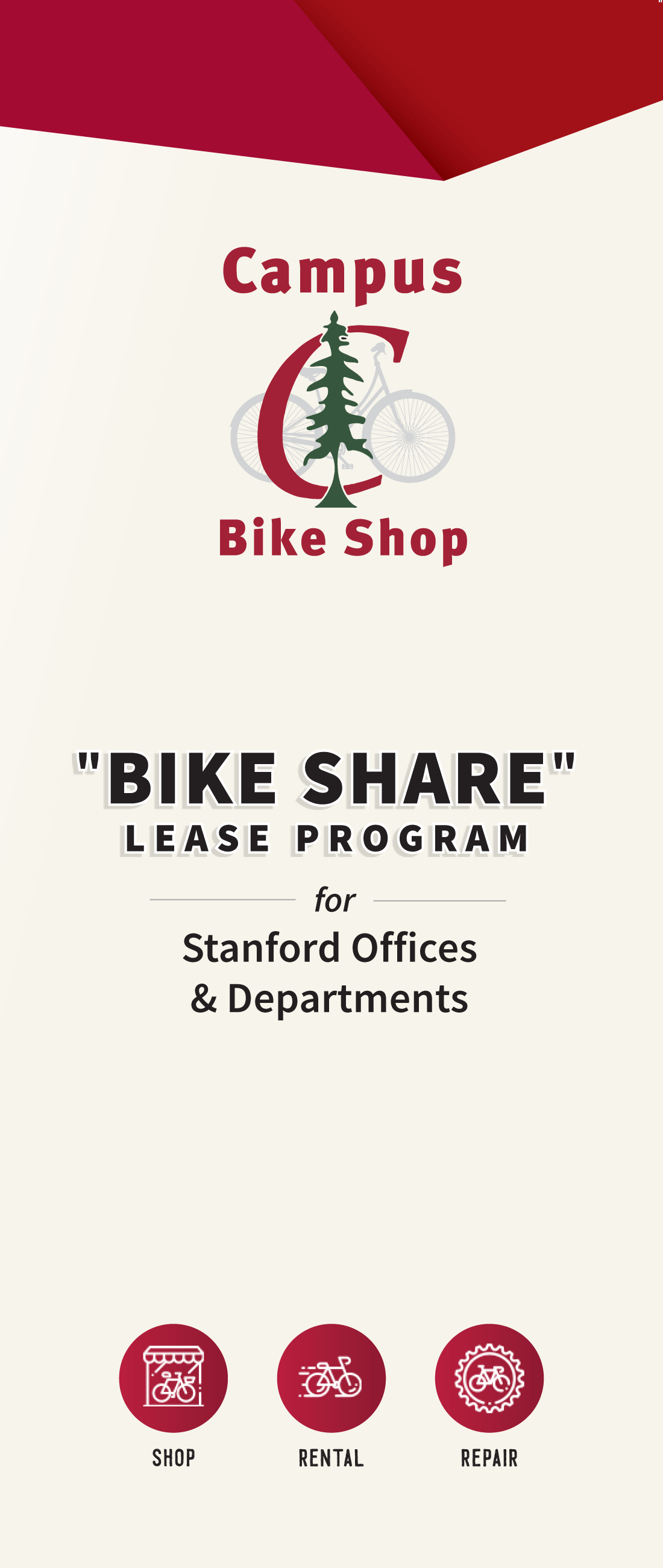 Campus Bike Shop Bike Share Lease Program