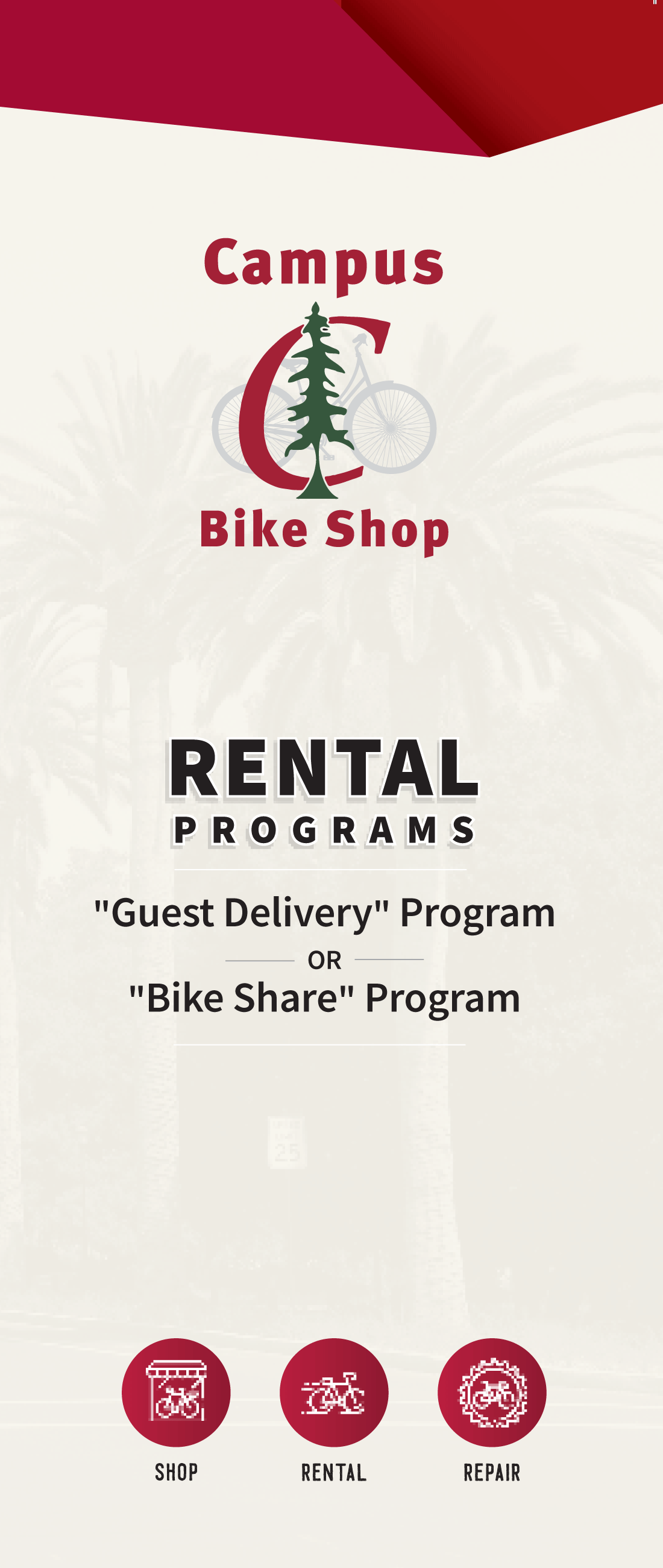 Campus Bike Shop Rental Programs