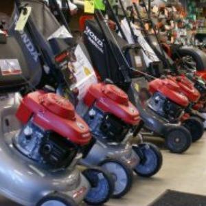Honda Lawnmowers on display