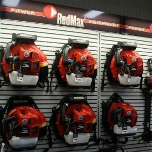 Redmax leaf blowers on display
