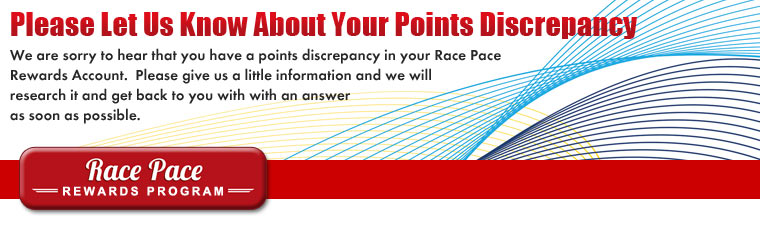 Let Us Know About Your Rewards Points Discrepancy