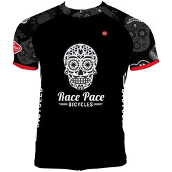 Race Pace Bicycles Men's Sugar Skull Jersey - Black