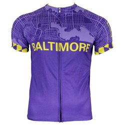 Hill Killer Apparel Co Baltimore 'Charm City' Purple Men's Cycling Jersey