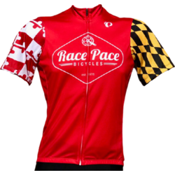 Race Pace Bicycles Men's Race Pace Crab Jersey - Red