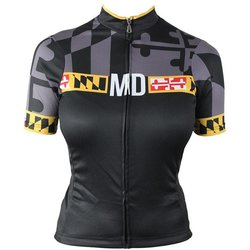 Hill Killer Apparel Co Maryland 'Blackout' Women's Cycling Jersey