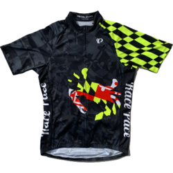 Race Pace Bicycles Men's Race Pace Crab Jersey - Black/Neon