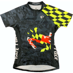 Race Pace Bicycles Women's Race Pace Crab Jersey - Black/Neon